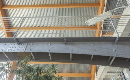 Passerelle in ferro zincato