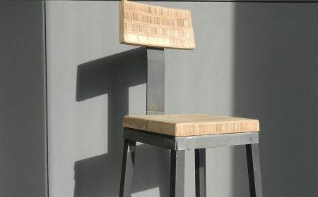 Sedia Realizzata su misura in legno e acciaio