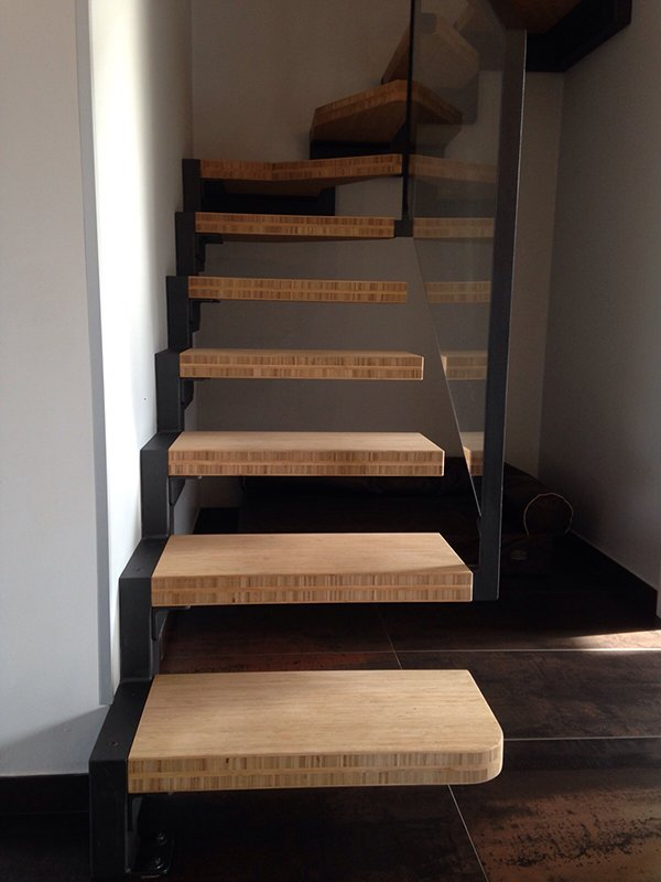 Top Scala in ferro con gradini in legno di bambù | Ronco CM WT94