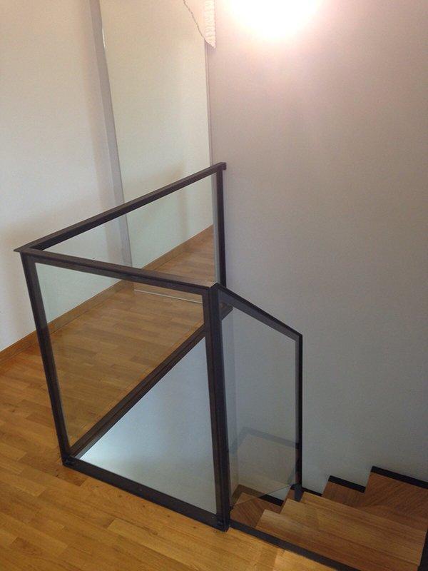 Preferenza Scala in ferro con gradini in legno di bambù | Ronco CM QJ82